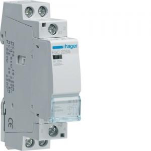 HAGER - ESC225S - Contacteur Silencieux - 25A - 2 NO - 230V