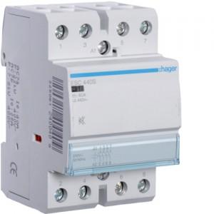 HAGER - ESC440S - Contacteur Silencieux - 40A - 4 NO - 230V
