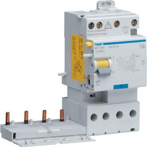 HAGER - BDH840 - Interrupteur différentiel ID - 40A - 3P+N - 30 mA - Type A Hi