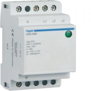 HAGER - SPN408S - Parafoudre à protection fine - 3P+N - Imax. 8 kA