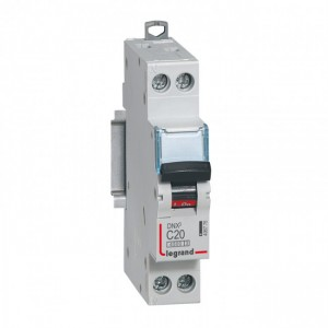 LEGRAND - LEG406775 - Disjoncteur DNX3 - 1P+N - 20 A - Courbe C - PdC 4.5 kA
