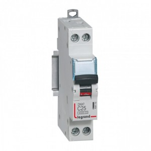 LEGRAND - LEG406776 - Disjoncteur DNX3 - 1P+N - 25 A - Courbe C - PdC 4.5 kA