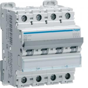 HAGER - NGN440 - Disjoncteur - 40A - 4P - Courbe D - PdC 6-10 kA