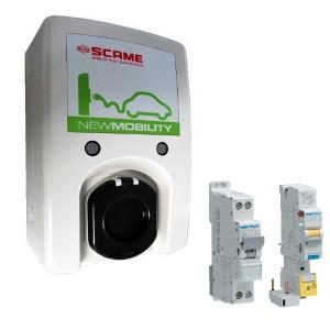Pack Borne SOBEM-SCAME - Wallbox WB 3C - 3.7 kW à 22 kW + Protections électriques 7 kW