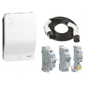 Pack Borne SCHNEIDER - EVLink - EVH2S7P04K - 7 kW + Prot. élec. 7 kW + Câble ITT T2/T2 22 kW