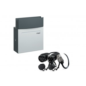 Pack Borne HAGER - Witty - XEV092 - 7 kW + Câble PHOENIX-CONTACT - T2/T2 - 22 kW - 4m