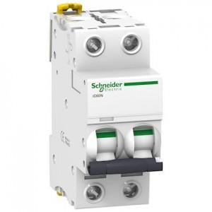 SCHNEIDER - A9F77210 - Disjoncteur Acti9 iC60N - 10 A - 2P - Courbe c - PdC 10 kA