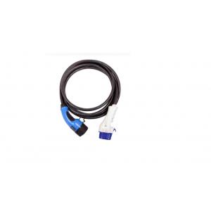 EVChargeKing - EVCK22T3T2TES6M - Câble de recharge T3/T2 avec bouton TESLA - 22kW - 6m