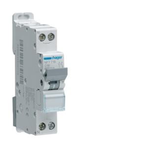 HAGER - NFT740 - Disjoncteur 40 A - 1P+N - Courbe C - PdC 10 kA