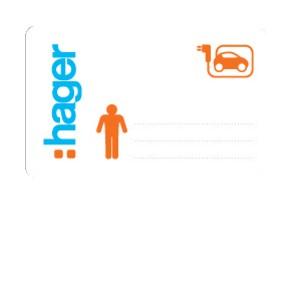 HAGER - XEV309 - Lot de 3 badges RFID administrateurs