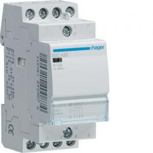 HAGER - ESC425 - Contacteur - 25A - 4 NO - 230V