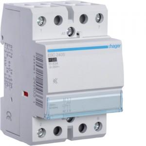 HAGER - ESC240S - Contacteur Silencieux- 40A - 2 NO - 230V