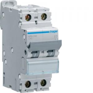 HAGER - NRN240 - Disjoncteur - 40A - 2P - Courbe C - PdC 20 kA
