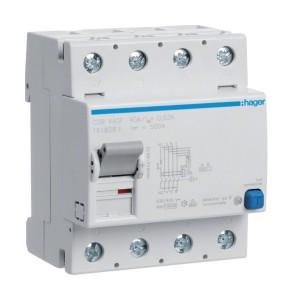 HAGER - CDB440F - Interrupteur différentiel ID - 40A - 3P+N - 30 mA - Type B