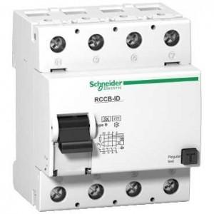 SCHNEIDER - A9Z61425 - Interrupteur différentiel ID - 4P - 25 A - 30 mA - Type B