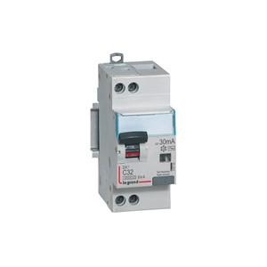 LEGRAND - LEG410756 - Disjoncteur dif. DX3 - 1P+N - 32 A - 30 mA - Courbe C - PdC 6 kA - Hpi