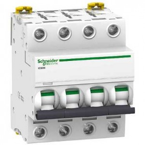 SCHNEIDER - A9F77440 - Disjoncteur Acti9 iC60N - 40 A - 4P - Courbe C - PdC 10 kA