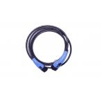 EVChargeKing - EVCK22T2T2TES5M - Câble de recharge T2/T2 avec bouton TESLA - 22kW - 5m