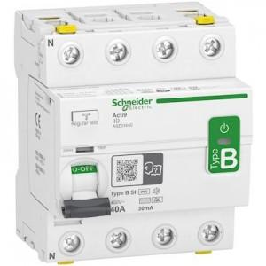 SCHNEIDER - A9Z61440 - Interrupteur différentiel ID - 4P - 40 A - 30 mA - Type B - Si